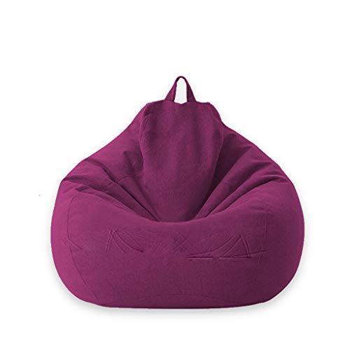 WALNUT Funda para sofá Nueva Funda para sofás Lazy BeanBag sin Relleno, Tumbona, Asiento, Puff, sofá, Tatami, Fundas para sillas (Color : Purple, Size : Small)