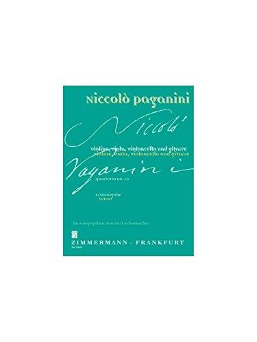 Quartetto Nr. 10 A-Dur: (Erstausgabe). Violine, Viola, Violoncello und Gitarre. Partitur und Stimmen. (Paganini-Schumacher)