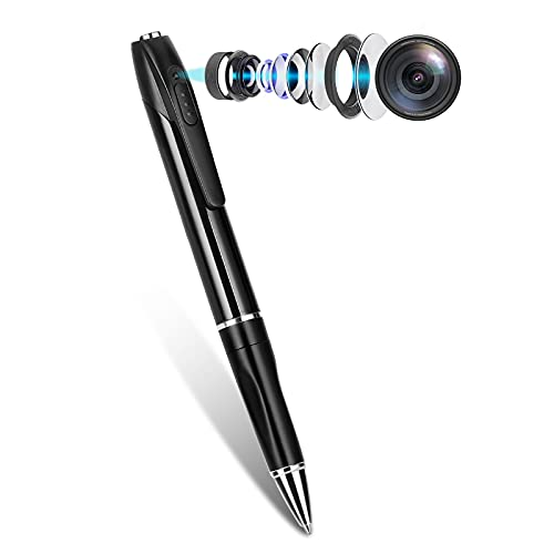Spy Pen Camera, Hidden Mini Camera with 32GB SD Card, Spy Cam with 150 Minutes Battery Life, Camera Pen with Picture Taking, Mirco Camera for Home and Classroom Learning