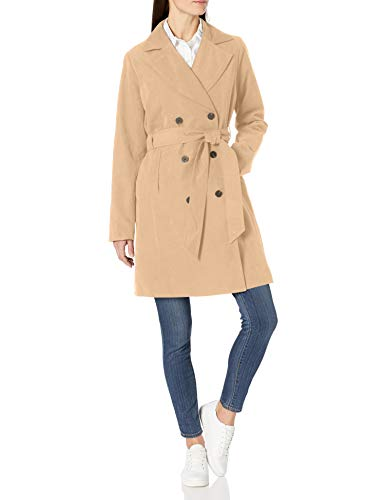 Amazon Essentials Water-Resistant Trench Coat Trenchcoats, Taupe, 40-42