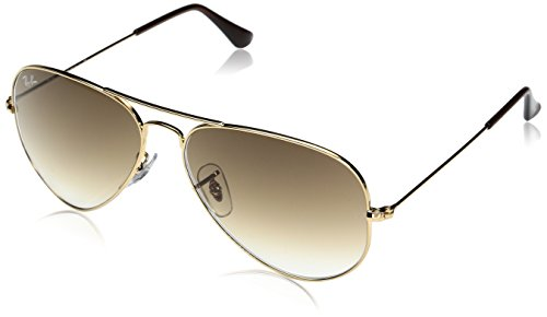 Ray-Ban RB3025 Classic Aviator Sunglasses, Gold/Gold Mirror, 58 mm