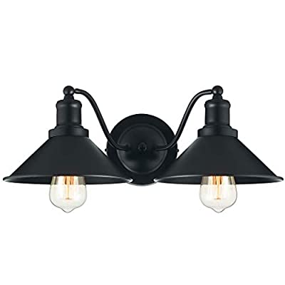 2?Light Vanity Light Wall Sconce Industrial Kitchen Bathroom Wall Lighting Oil Rubbed Black Finish