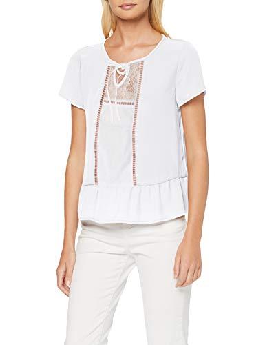 ONLY Damen Onltua S/S Top Bluse, Weiß (Cloud Dancer), Large