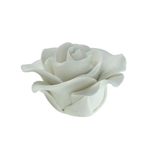 Cake Company Tortendeko Hochzeit Feinzuckerrosen Weiß groß
