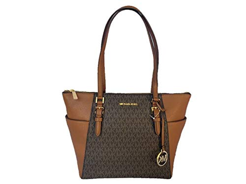 Michael Kors Charlotte Signature Large Top Zip Tote - Brown