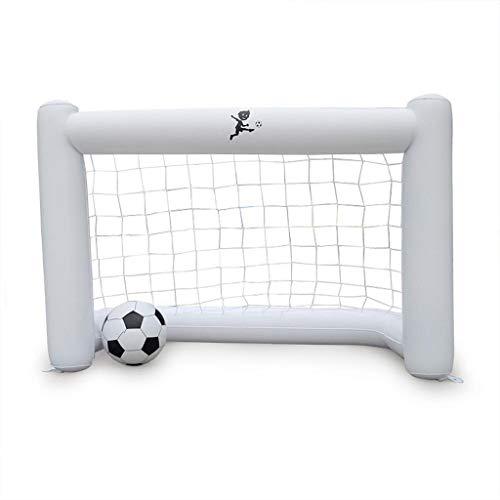 MHSHTY Inflable 160cm Portería de fútbol Red de portería de fútbol Mini Set de Entrenamiento de fútbol con fútbol para niños Regalo Actividad Juguetes