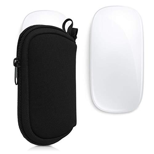 kwmobile Hülle kompatibel mit Apple Magic Mouse 1/2 - Neopren Hülle für PC Mouse Schutzhülle in Schwarz