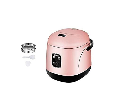 FGDFGDG Mini Reiskocher für den Heimgebrauch Nonstick Reiskocher automatisch 1.2L Kapazität für 1-3 Personen Reiskocher, pink Rice Cookers