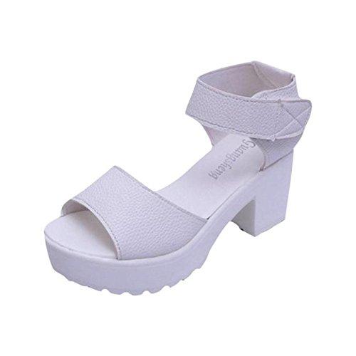 Zapatos Mujer Tacon, Culater Sandalias de Vestir Plataforma de tacón Fornido Alto