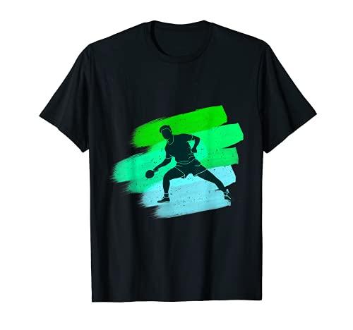 Divertido jugador de deportes de tenis de mesa con ping pong paddle Camiseta