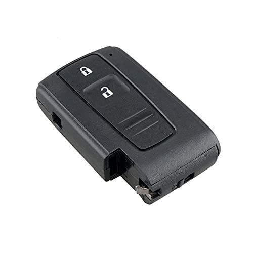 YYAN 2 Botones Tecla de Coche remota Ajuste para Toyota/Ajuste para Prius/Ajuste para LA Corolla/Ajuste para Verso