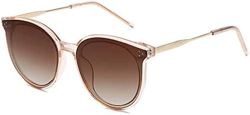 SOJOS Retro Round Sunglasses for Women Oversized Mirrored Glasses DOLPHIN SJ2068 with Crystal product image