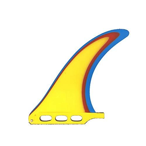 Aletas de Tabla de Surf FCS Long Colorido Paddle Fin Tabla de Surf de Longboard Individual Racing Fin Fin for el Surf (Color : 7 Inch)