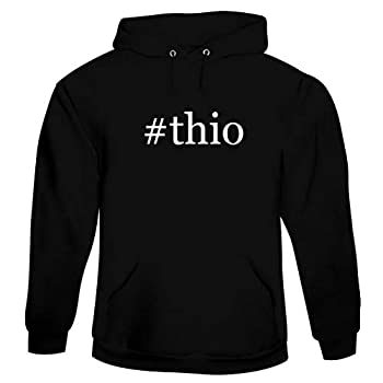 #thio - Men s Hashtag Hoodie Sweatshirt Black X-Large