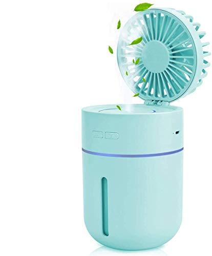 GOZA Desk Fan Rechargeable, Misting Fan Humidifier Personal Table Fan,...