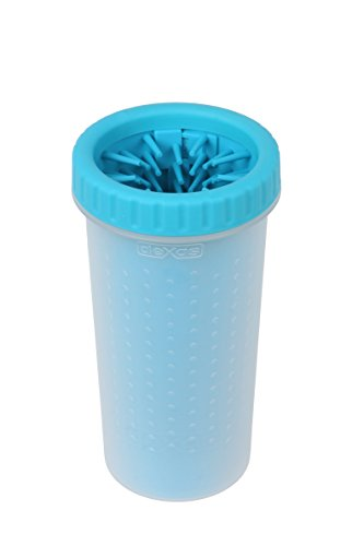 Dexas MudBuster Portable Dog Paw Cleaner, Large, Blue
