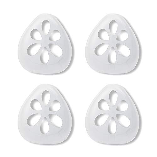 3D-Silikon-Halterung für Masken, Stützrahmen, Silikon-Maskenhalterung, Innenkissen für Masken, Nasenpolster für Mund und Nase, Innenhalterung Rahmen Nasenatmung reibungslos, 4 Stück
