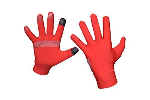 Guantes Deportivos Unisex, Cálido, con Puntos de sujeción y Dedos adaptados a Pantallas táctil (Azul Royal, XS)