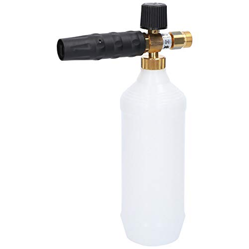 Profi Schaumlanze | 1L, mit Düsendurchmesser 1,25mm, verstellbar/dosierbar | Schaumkanone Düse Injektor für Hochdruckreiniger (Einlass: M22 AG)