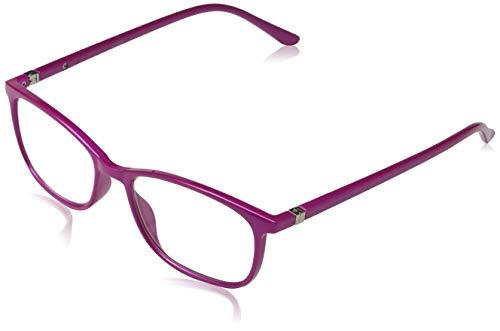 Pachleitner Elegante Lesehilfe mit Federscharnier und metallic Lackierung inklusive Etui, violett / +2 Dioptrien,