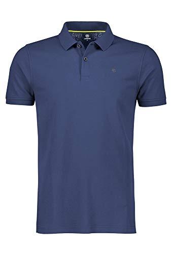 LERROS Herren Polo BTN. Pique Poloshirt, Blau (Vintage Blue 474), Large (Herstellergröße:L)