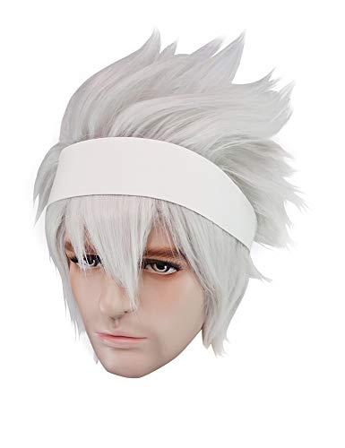 Soul Eater Evans Cosplay Wig White Hair Soul Eater Halloween Costume Wig