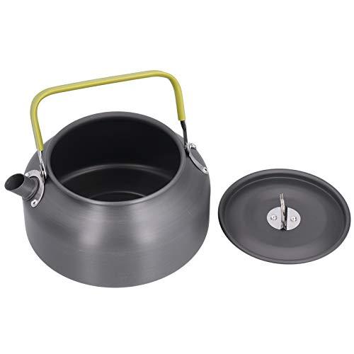 Verbrühungshemmende Picknick-Teekanne Praktischer Teekessel Aluminiumlegierung und Kunststoff-Picknicks Heim für Campingpartys