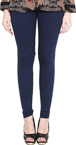 Lux Lyra Women's Regular Fit Cotton Churidar Legging (E7, Navy...