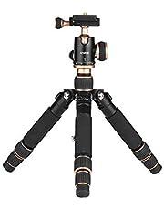 ミニ三脚 カメラ三脚 超軽量 旅行三脚 自由雲台付き 3段調整 最大57CM 3kg荷重 アルミ合金 コンパクト安定性 デジタルカメラ 一眼レフカメラ ミラーレスカメラ アクションカメラなど対応