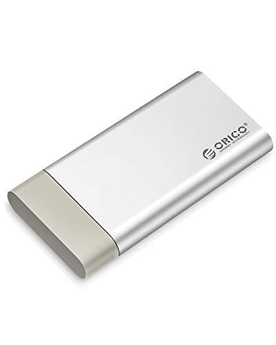 ORICO mSATA ケース SSD 変換ケース 直挿式デザイン MSATA3.0ケース USB3.0接続 UASP対応 SSD外付けケース TRIM指令 6Gbps 高速 防塵蓋付 超小型 外付けドライブケース アルミ製 シルバー