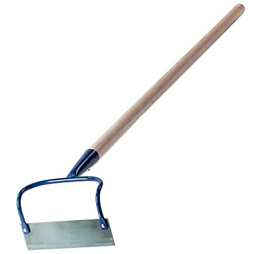 KADAX Gartenhacke aus Metall, Hacke mit Stiel aus Holz, Unkrauthacke zum lockern, lüften und jäten des Bodens, Gartenzubehör zum entfernen von Unkraut (W: 16cm, doppelt)