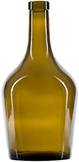 North Mountain Supply 750ml Duplicado Antique Green Glass Wine/Port Bottle Bar Top Finish - Case of 4