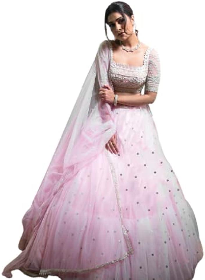 Pink Soft Net Lehenga Choli Embroidered Indian Lehenga Choli Designer Lehenga Choli Bollywood lahanga choli