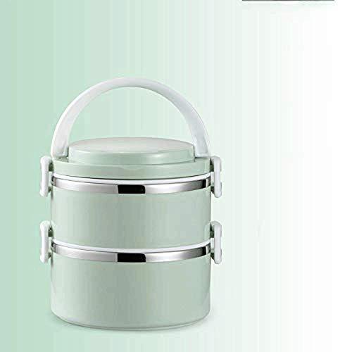 Fiambrera apilable de acero inoxidable a prueba de fugas con bolsa aislada y cubiertos reutilizables, contenedor de almacenamiento de alimentos para adultos (3 niveles) (tamaño: M) (tamaño: grande)