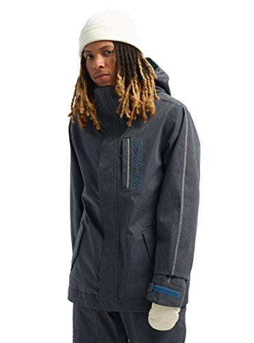 Burton Mens Gore-Tex Doppler Jacket, Denim/Bog Heather, Small