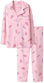 Cotton Sweet Parent-Child Shirt Style Pajamas Set Autumn Winter Long Sleeve Family Sleepwear For Women Girls Fashion Pajam...