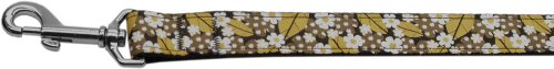Mirage Pet Products Autumn Leaves Nylon band hondenhalsband met linnen, 4 feet Length x 1-inch Width