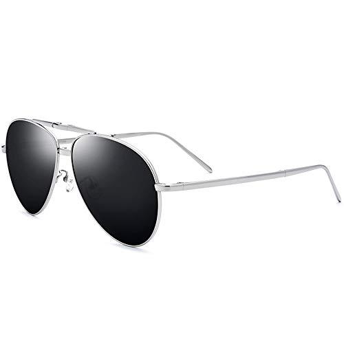 Zhhhk Gafas UV400 Pure Titanium Sunglasses Ultra Light Driver for Hombre Plegable Gafas De Sol Polarizadas Que Conducen Rana Espejo Gafas