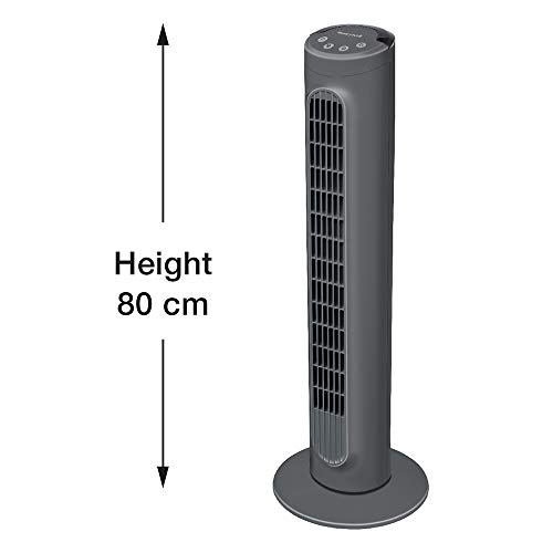 Honeywell HYF1101E1 3 Speed, Comfort Control Cooling Tower Fan for Home Use, Plastic, Black