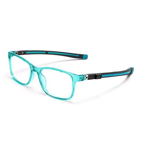 TYKEVO Blaulichtfilter Brille Kinder, Dehnbare Silikonbrillentempel, Augenbelastung Reduzieren Computer Spielen Telefon Brille für Jungen Mädchen Alter 3-15. (Türkis)