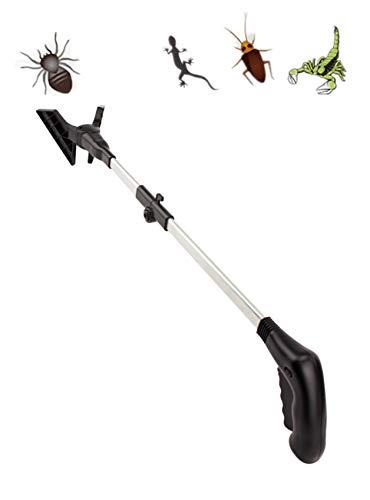 GreatHouse-2te Generation LED-Spionenfänger 74,52 Zoll Faltbarer Langer Arm, Humane Insektenfänger für Fangen von Insekten, Multifunktions-Aufholwerkzeug, 1 Pack.