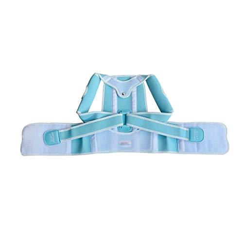 AWEDE Kinder Buckelkorrektur Gürtel Haltung Korrektur Schulter Rücken Rückenstützenstützen Gürtel Korsett für Kind Kinder Mädchen Jungen Studenten (Color : Blue, Size :...