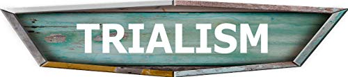 ANY AND ALL GRAPHICS TRIALISM Old School Retro Shaped Weathered Rustic Painted Wood Look Novelty décor Composite Aluminum Beach Cottage Sign.