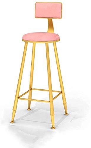 DFJKE Taburete de Bar Silla Alta de Desayuno de Metal Adecuada para sillas de Mesa de Comedor de Bar al Aire Libre de Cocina Familiar.