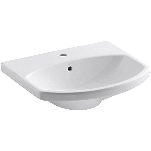 KOHLER K-2363-1-0 Cimarron Bathroom Sink Basin, White