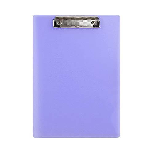 5 Paquete A4 y Tamaño de letras Portapapeles de plástico Colgante de archivo Colgador de archivos Bill Binder Multifuncional Escribir Tablero Menú Menú Tablero Múltiples usos ( Color : Purple )