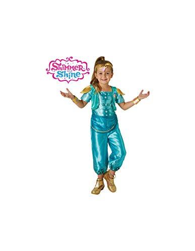 DISBACANAL Disfraz Shine de Shimmer and Shine niña - -, 5-6 años