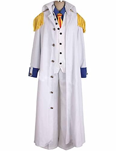 Disfraces de Cosplay de Anime ONE PIECE Kuzan - Disfraz de fiesta Trajes de uniforme Disfraz diario para mujeres y niñas