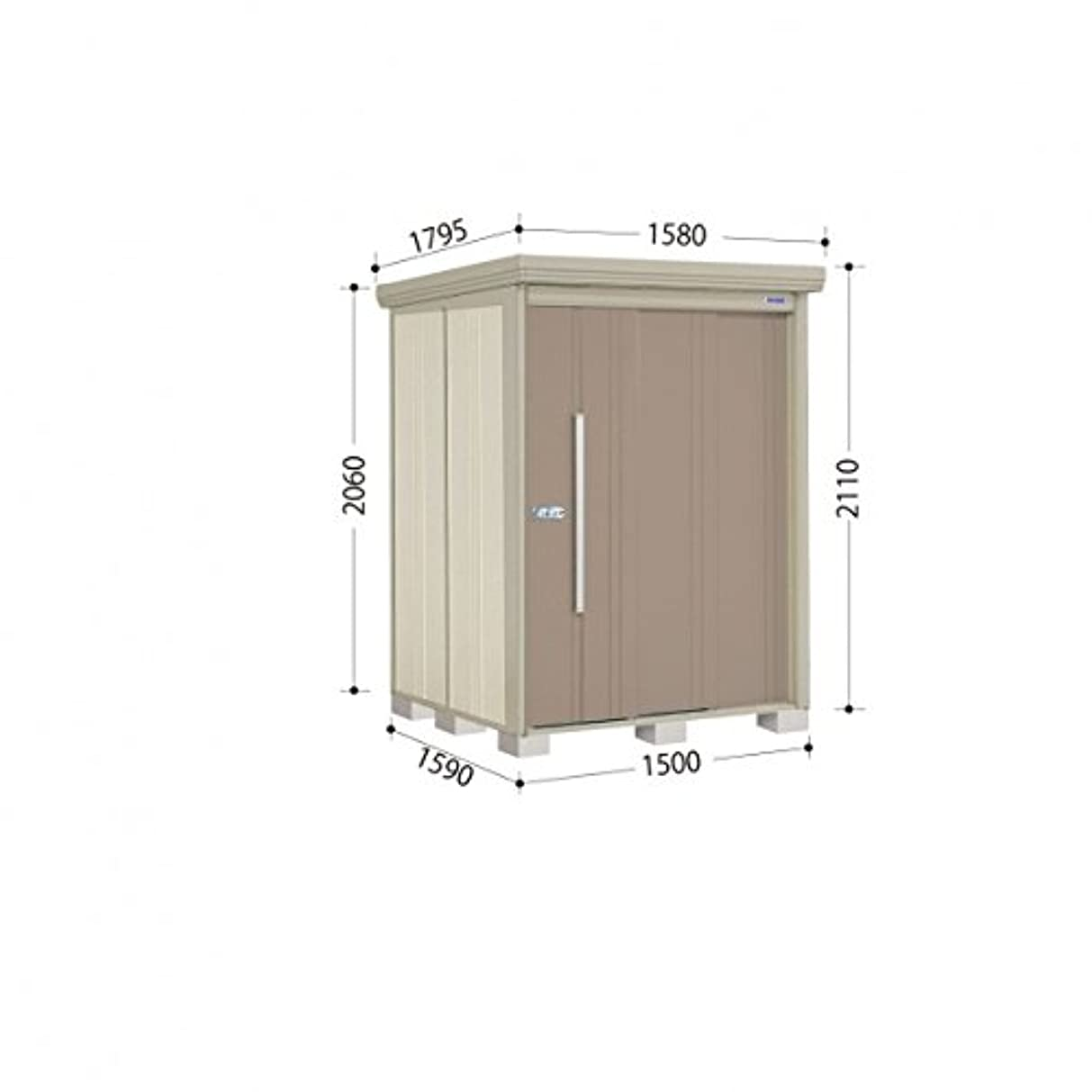 覚醒カーフ居間タクボ物置 ND/ストックマン ND-1515 一般型 標準屋根 『屋外用中型?大型物置』 カーボンブラウン