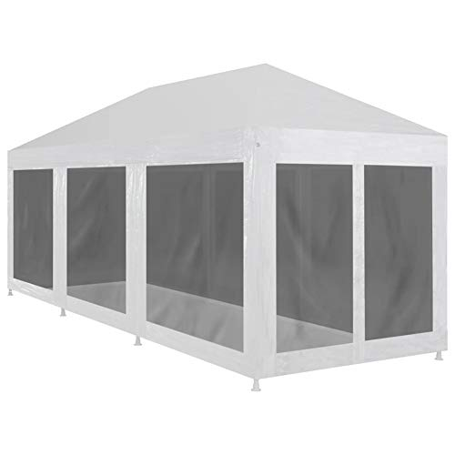 GOTOTOP 9x3 m Party Tent Gazebo Marquee UV-Resistant with 8 Mesh Sidewalls Waterproof Canopy, 9 x 3 x 2.55 m